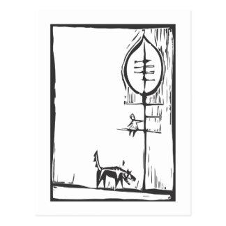 En un árbol tarjetas postales