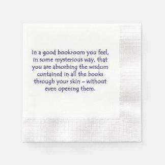 En un buen Bookroom Servilleta Desechable