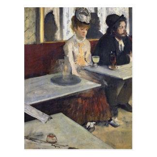 En un café, o el ajenjo, c.1875-76 postal