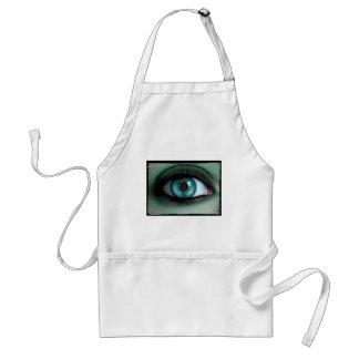 En un delantal del ojo de las brujas