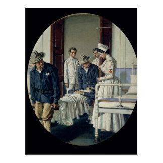 En un hospital militar tarjetas postales