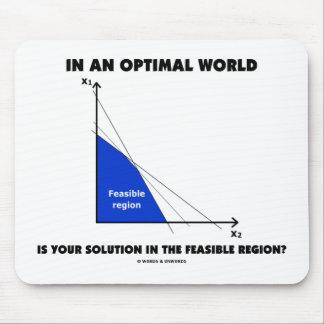 ¿En un mundo óptimo es su solución posible? Tapetes De Raton
