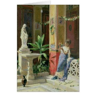 En un patio en Pompeya 1878 Tarjeta