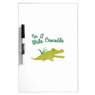En un rato cocodrilo pizarras blancas