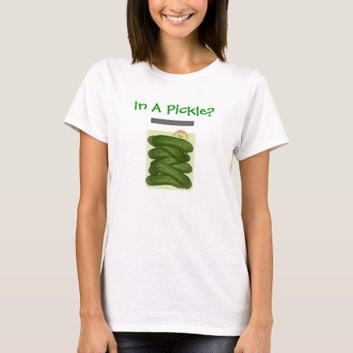 En una camiseta de la salmuera