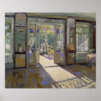 En una casa, 1913 póster