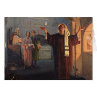 En una catacumba, 1900 tarjeta de felicitación