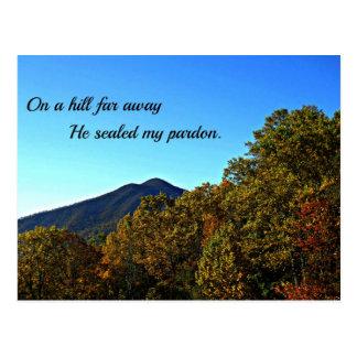 En una colina lejos, él selló mi perdón postales