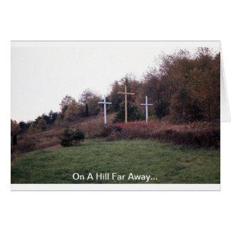 En una colina lejos… tarjeta de felicitación