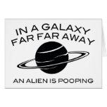 En una galaxia lejos lejos un extranjero es felicitaciones