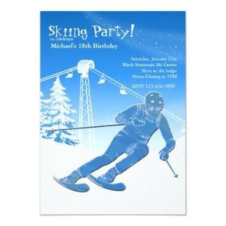 En una invitación del esquí del funcionamiento