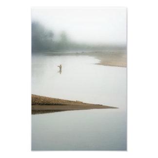 En una mañana de niebla impresion fotografica