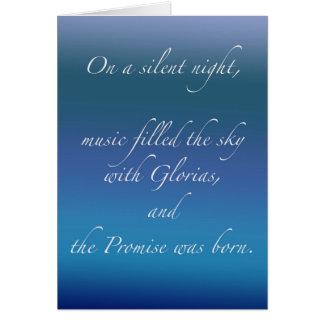 En una noche silenciosa tarjeta de felicitación
