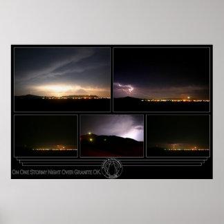 En una noche tempestuosa sobre la AUTORIZACIÓN del Poster