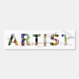 En una palabra: Artista Pegatina Para Auto
