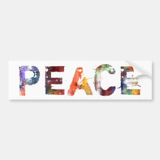 En una palabra: Paz Pegatina De Parachoque
