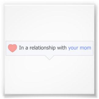 En una relación con su mamá fotografías
