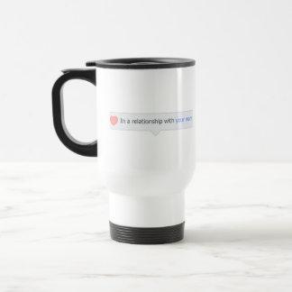 En una relación con su mamá tazas de café