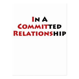 ¿En una relación confiada? Tarjeta Postal