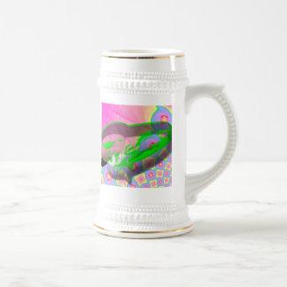 En una vaina jarra de cerveza