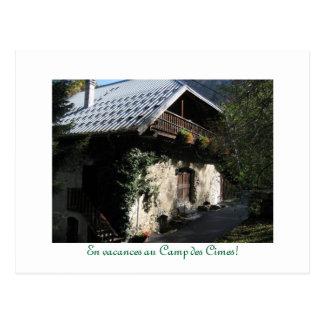 En vacances au Camp des Cimes! Post Card