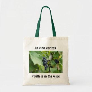 En veritas del vino bolsas lienzo