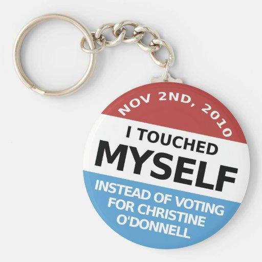 … En vez de la votación por Christine O'Donnell Llavero Personalizado