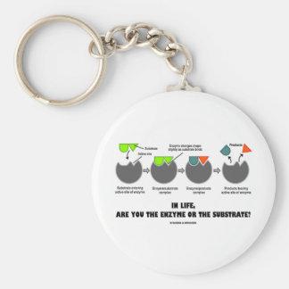 ¿En vida, es usted la enzima o el substrato? Llavero