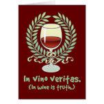 En vino es la verdad tarjeta