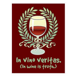 En vino es la verdad postal