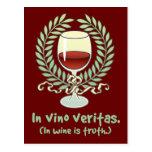 En vino es la verdad tarjetas postales