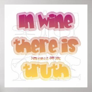 En vino hay verdad póster