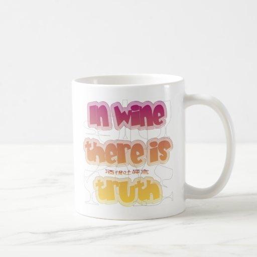 En vino hay verdad taza