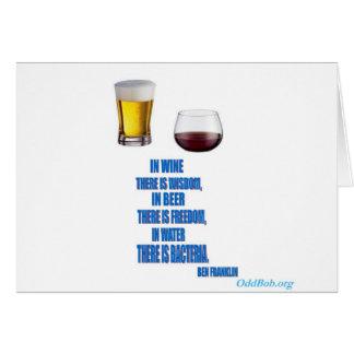 En vino… tarjeta de felicitación