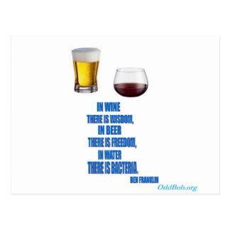 En vino… tarjeta postal