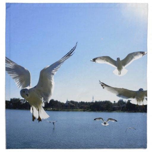 En vuelo servilletas de papel