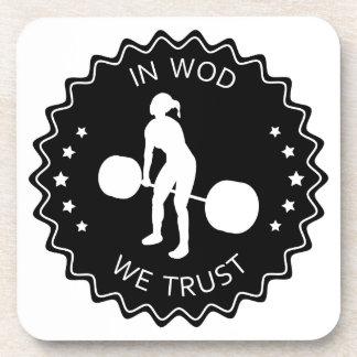 En Wod confiamos en - la inspiración Posavasos De Bebida