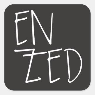 """""""En Zed"""" New Zealand Square Sticker"""
