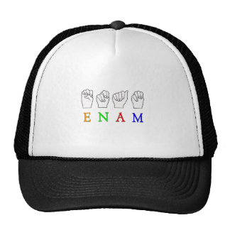 ENAM FINGERSPELLED ASL NAME SIGN TRUCKER HAT