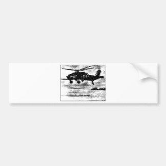 Enamel-Chopper Bumper Sticker