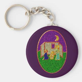 Enamel crib enamel nativity set crib keychain