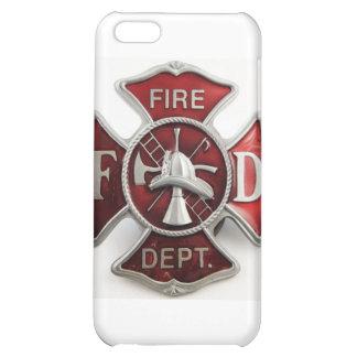 'enamel' fire dept insignia iPhone 5C cases
