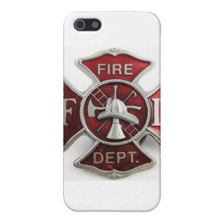 'enamel' fire dept insignia iPhone SE/5/5s cover