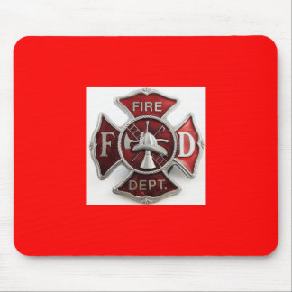 'enamel' fire dept insignia mouse pad