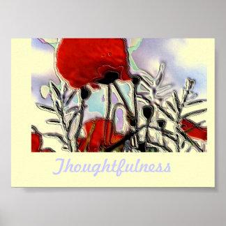 Enamel Poppies Poster