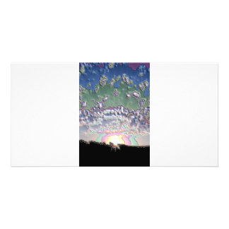 Enamel Setting sun Card