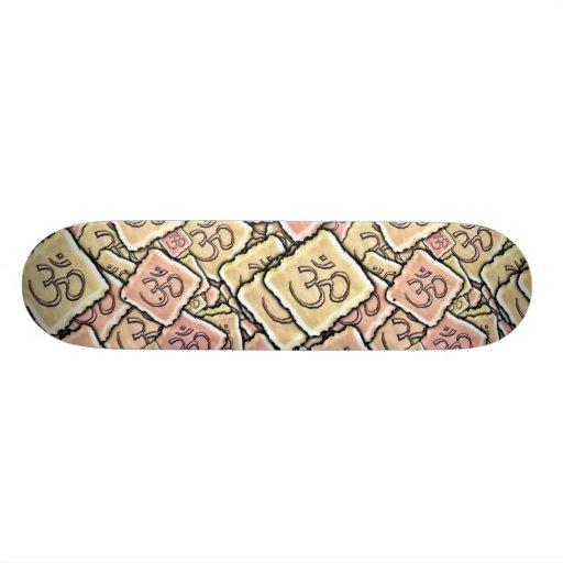 Enamel Tile Om (Aum) Skate Deck