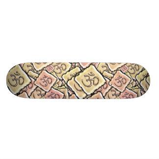 Enamel Tile Om (Aum) Skateboard