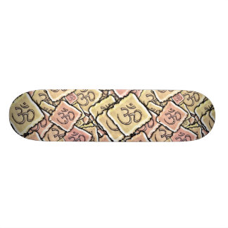 Enamel Tile Om (Aum) Skateboard Deck