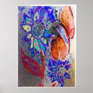 Enamel Wall Flower 1-1 Poster